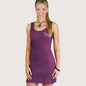 D-LAT3559 - Junior 2x1 Rib Tank Dress