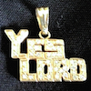 J-YL-GP-L-Diamonds - Lg Yes Lord Gold Pendant /Diamonds