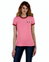 TS-B-6050 - Ladies Heather Ringer T