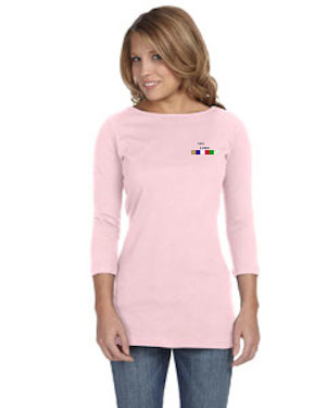 TS-B-6515 - Ladies Jersey Half-Sleeve Boatneck T-Shirt
