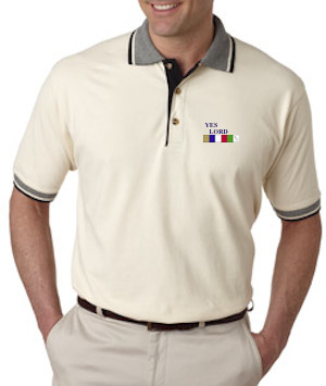 GS-UC-8537 - Classic Pique Polo with Contrasting Multi-Stripe